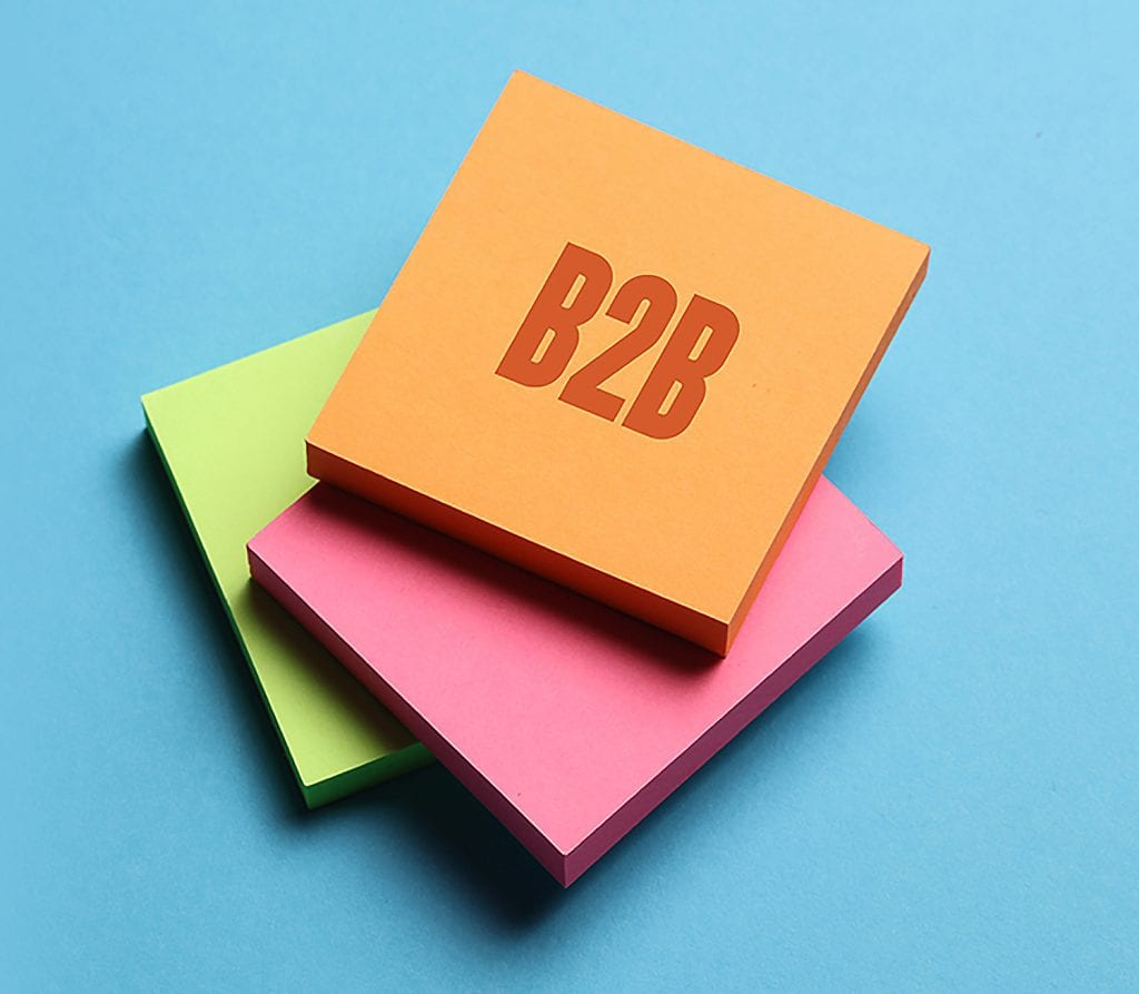 B2B Post it note